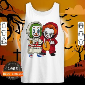 Baby Joker And Pennywise Horror Movies Characters Halloween Tank Top