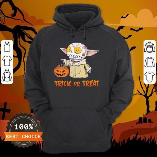 Baby Yoda Pumpkin Trick Or Treat Halloween Hoodie