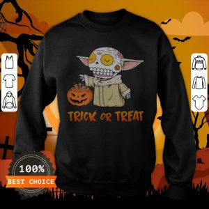 Baby Yoda Pumpkin Trick Or Treat Halloween SweatshirtBaby Yoda Pumpkin Trick Or Treat Halloween Sweatshirt