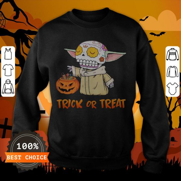 Baby Yoda Pumpkin Trick Or Treat Halloween Sweatshirt