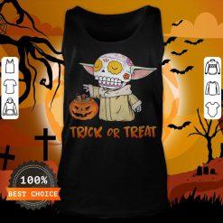 Baby Yoda Pumpkin Trick Or Treat Halloween Tank Top
