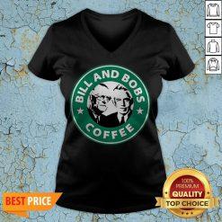 Bill And Bobs Coffee Star Bucks V-neck