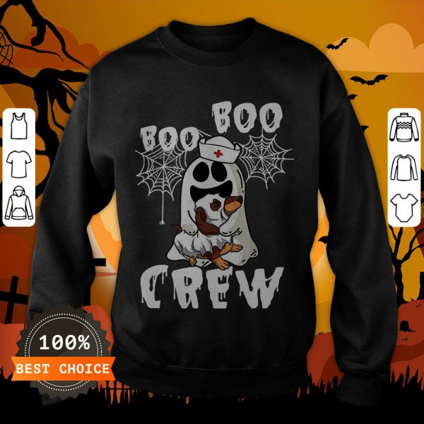 Boo Boo Ghost Hug Dachshund Crew Halloween Sweatshirt