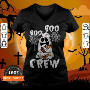 Boo Boo Ghost Hug Dachshund Crew Halloween V-neck