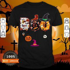 Boo Halloween Costume Dinosaur Ghosts Pumpkin Witch Hat T-Shirt