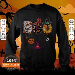Boo Halloween Costume Dinosaur Ghosts Pumpkin Witch Hat T-Sweatshirt