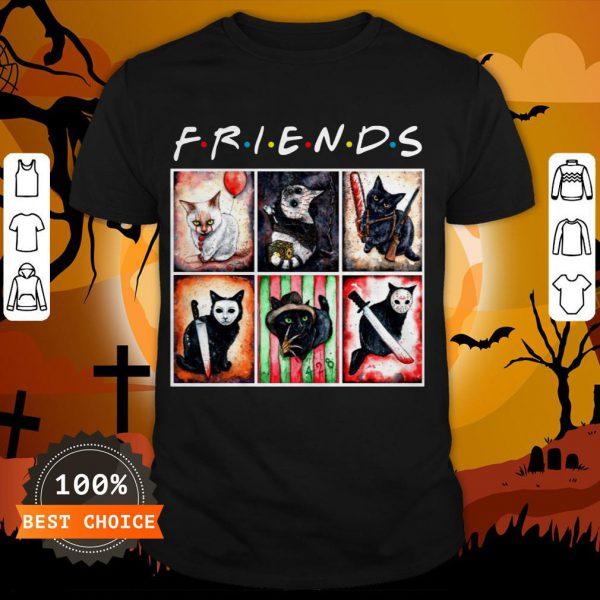 Cat Horror Friends Halloween T-Shirt Masswerks Store
