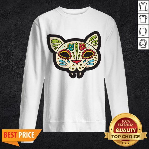 Cat Sugar Skull Dia De Los Muertos Day Of The Dead SweatshirtCat Sugar Skull Dia De Los Muertos Day Of The Dead Sweatshirt