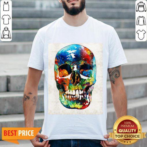 Colorful Skull Day Of The Dead Dia De Muertos Shirt