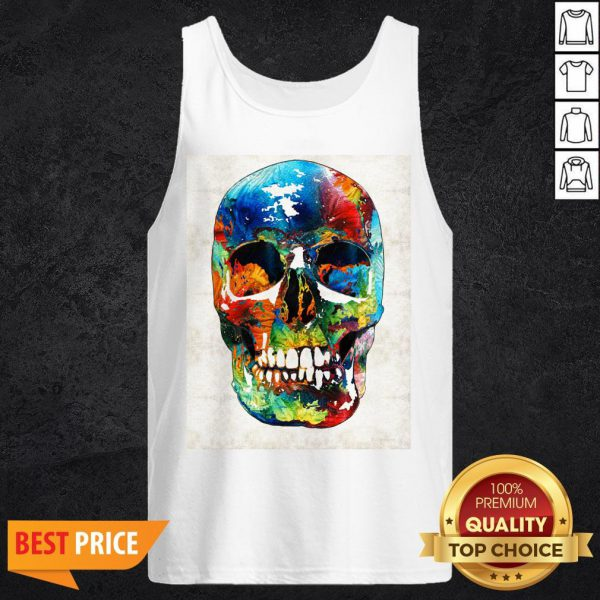 Colorful Skull Day Of The Dead Dia De Muertos Tank Top
