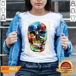 Colorful Skull Day Of The Dead Dia De Muertos V-neck