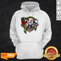 Cracked Candy Skulls Day Of The DCracked Candy Skulls Day Of The Dead T-Hoodieead T-Hoodie
