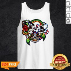 Cracked Candy Skulls Day Of The Dead T-Tank Top