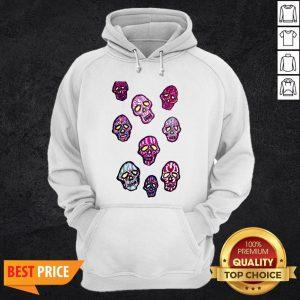 Dancing Colored Sugar Skulls T-Hoodie