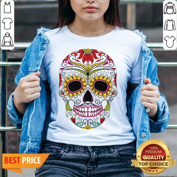 Day Of The Dead - Dia De Los Muertos Sugar Skull V-neck