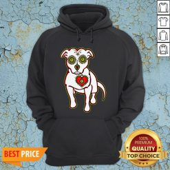 Day Of The Dead Styled Pitbull Dia De Los Muertos Hoodie