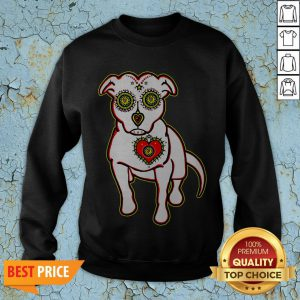 Day Of The Dead Styled Pitbull Dia De Los Muertos Sweatshirt
