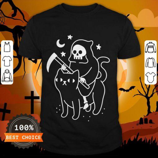 Death Rides A Black Cat Classic Shirt