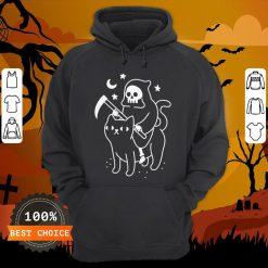 Death Rides A Black Cat Classic Hoodie
