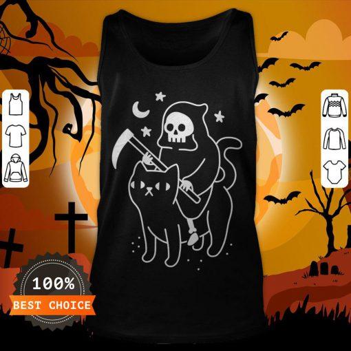 Death Rides A Black Cat Classic Tank Top