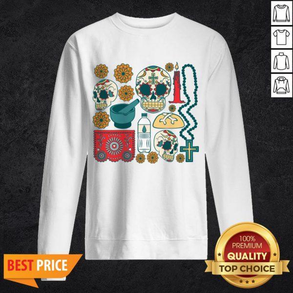 Día De Los Muertos Day Of The Dead Mexican Holiday Sweatshirt