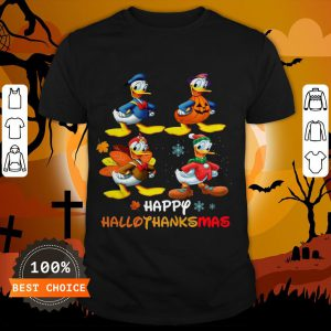 Donald Duck Happy Hallothanksmas Shirt