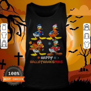 Donald Duck Happy Hallothanksmas Tank Top