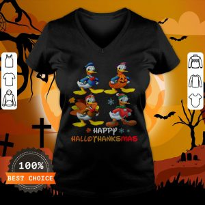 Donald Duck Happy Hallothanksmas V-neck