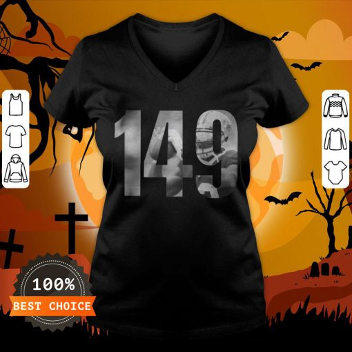 Drew Brees Mike 149 Las Vegas Raiders T-V-neckDrew Brees Mike 149 Las Vegas Raiders T-V-neck