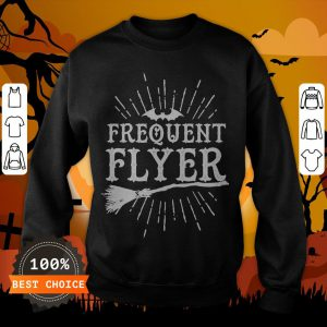 Frequent Flyer Vintage Bat And Witch Halloween Party T-Sweatshirt