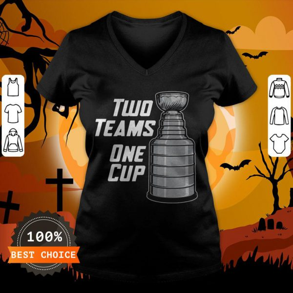 Funny Two Teams One Cup T-V-neck