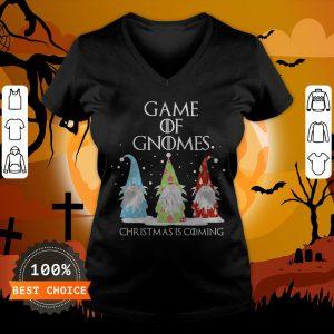 Game Of Gnomes Christmas Is Coming Three Gnomes Xmas V-neck