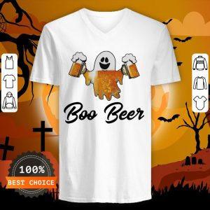 Ghost Boo Bees Halloween V-neck