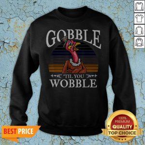 Gobble Til You Wobble Flamingo Vintage Sweatshirt