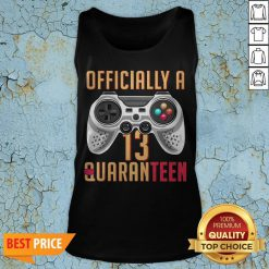 Graphic Officially A Quaranteen 13 Years Old Tank Top