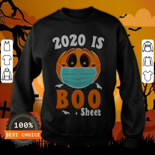 Halloween 2020 Boo Sheet Pumpkin Mask Sweatshirt