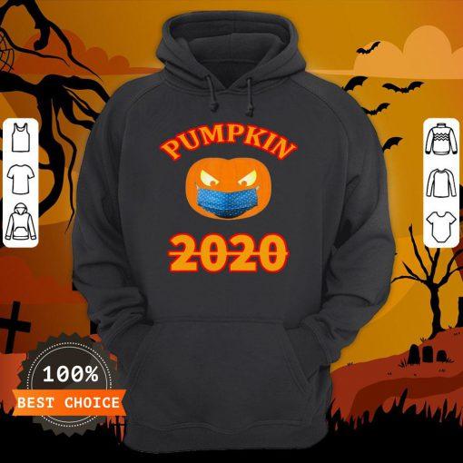 Halloween 2020 Pumpkin Wearing Mask T-Hoodie