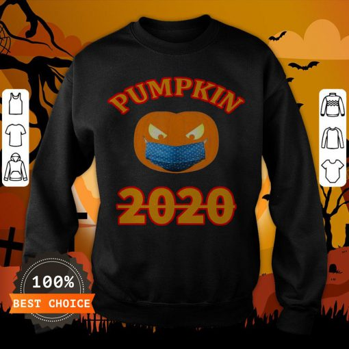 Halloween 2020 Pumpkin Wearing Mask T-Sweatshirt