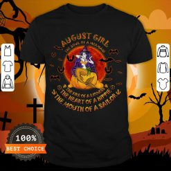 Halloween August Girl The Soul Of Mermaid The Fire Of A Lioness Shirt