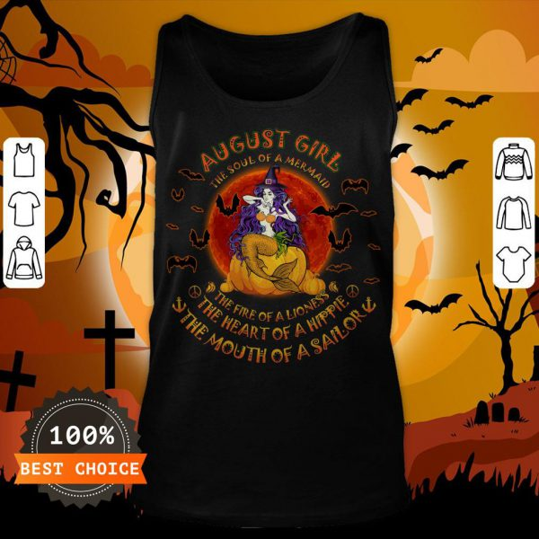 Halloween August Girl The Soul Of Mermaid The Fire Of A Lioness Tank Top