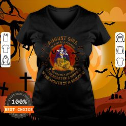 Halloween August Girl The Soul Of Mermaid The Fire Of A Lioness V-neck