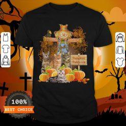 Halloween Cats Figurehead Pumpkins Patch Shirt
