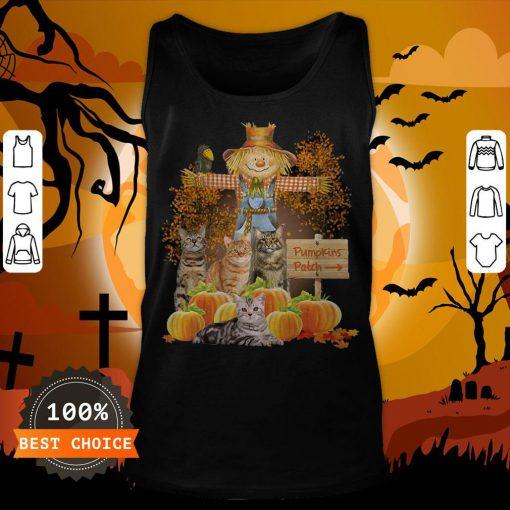 Halloween Cats Figurehead Pumpkins Patch Tank Top