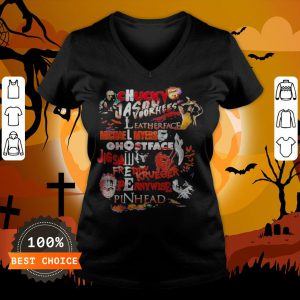Halloween Chucky Jason Voorhees Leatherface Michael Myers Ghostface Jigsaw Freddy Krueger Pennywise Pinhead V-neck