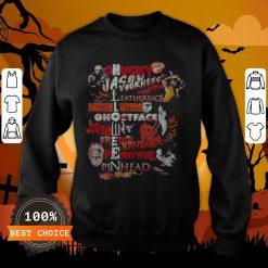 Halloween Chucky Jason Voorhees Leatherface Michael Myers Ghostface Jigsaw Freddy Krueger Pennywise Pinhead Sweatshirt
