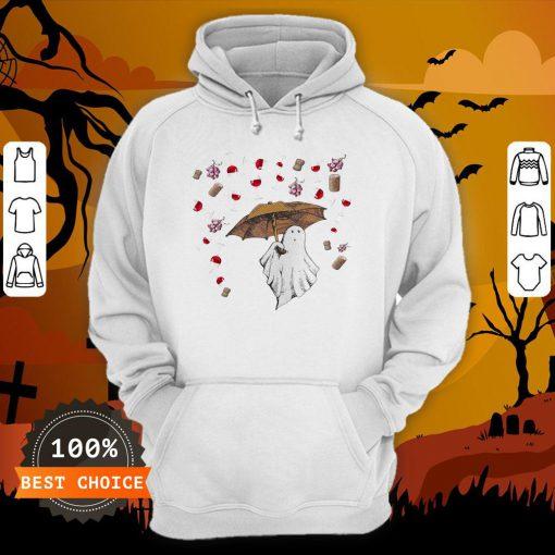 Halloween Ghost Rain Grape Wine Hoodie