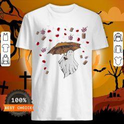 Halloween Ghost Rain Grape Wine ShirtHalloween Ghost Rain Grape Wine Shirt