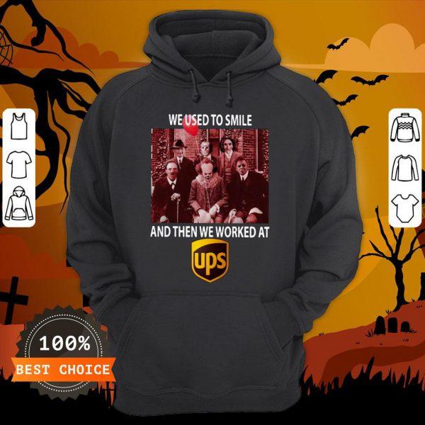 Halloween Horror Characters We Used To Smile And Then We Worked At Ups Hoodie