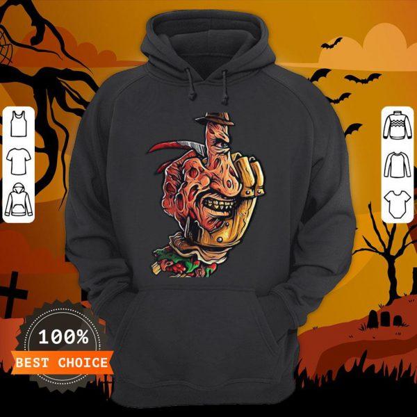 Halloween Jeanne Loves Horror On Freddy Krueger 2 Hoodie