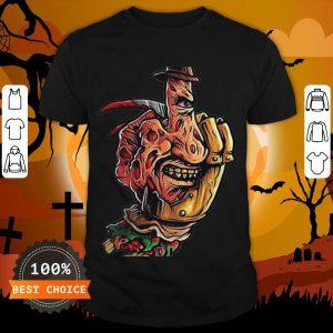 Halloween Jeanne Loves Horror On Freddy Krueger 2 Shirt